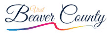 County logo with black cursive text and rainbow colored detail below
